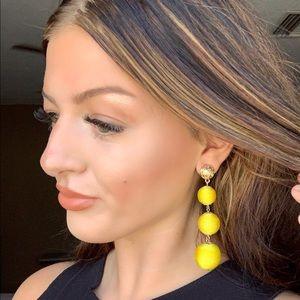 Anthropologie Jewelry - Anthropologie Sunshine 3 balls dangle earrings